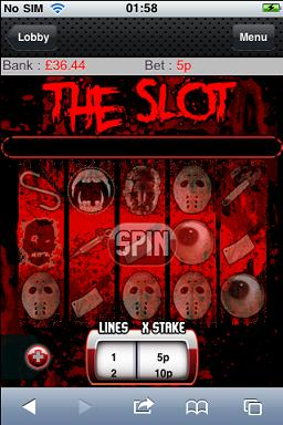 the slot is a blood hungry mobile slots game from ladylucks